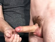 Jonny gets his cock and bladder drained of every drop in this cum and piss session