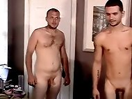 Straight boys Brian and Taz share a hot sucking mouth and...