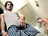 Chain initiates Jacob by jerking off and shooting a huge...