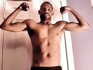 Straight hung guy Demetrius shares his thick meat with a...