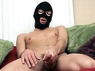 Masked Sean is enjoying his thick cock and that tight ass...