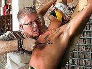 Dirty slave boy Kenzie gets the full treatment from cum...